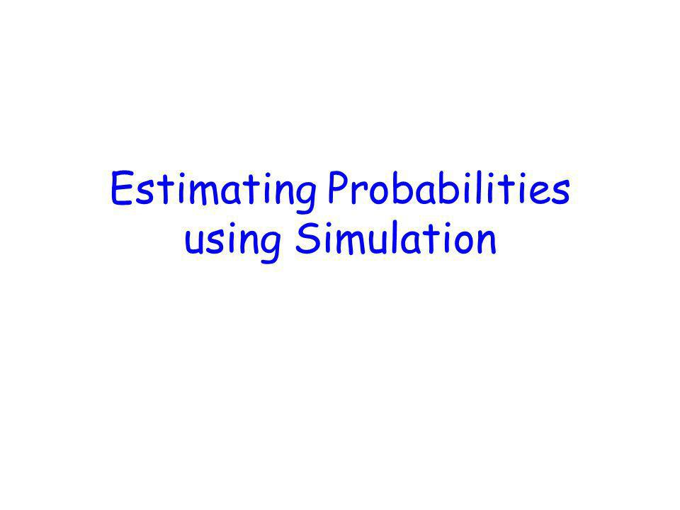 Estimating Probabilities using Simulation