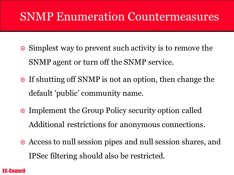 SNMP Enumeration Countermeasures