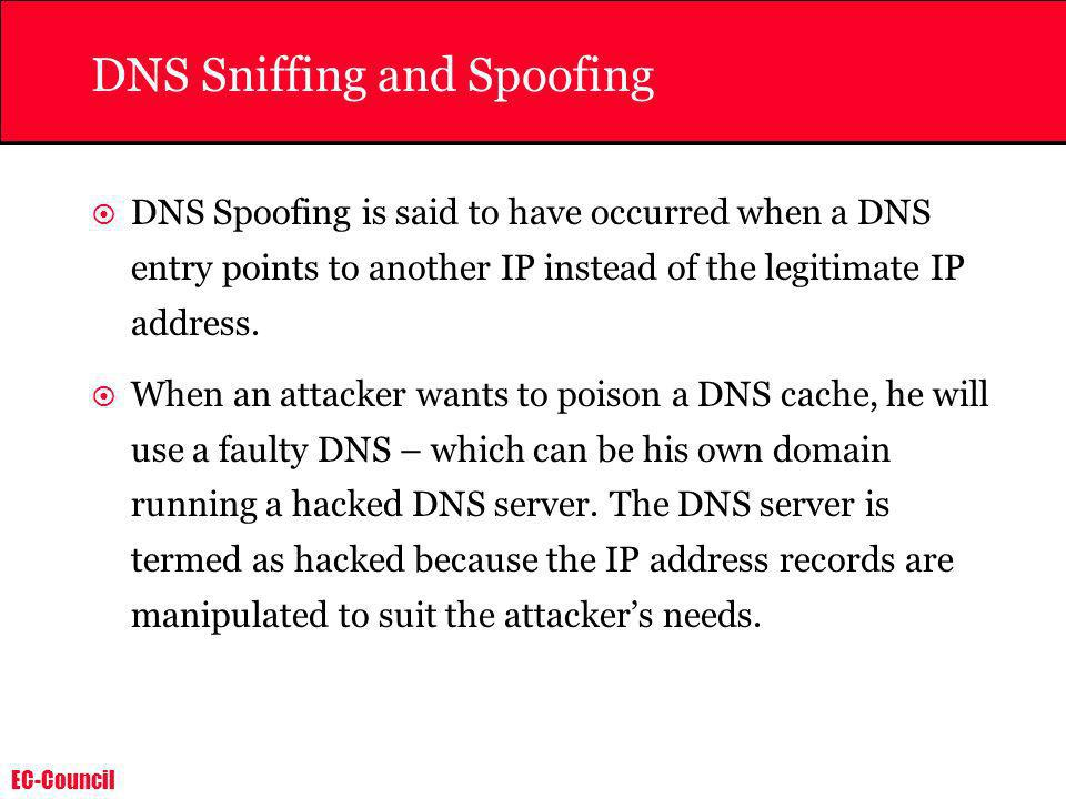 DNS Sniffing and Spoofing