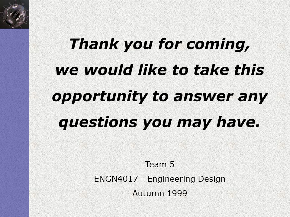 ENGN4017 - Engineering Design
