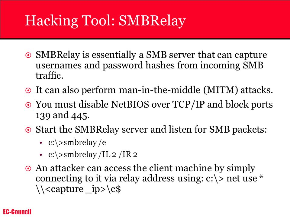 Hacking Tool: SMBRelay