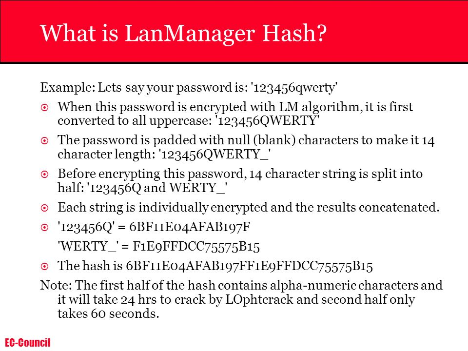 What is LanManager Hash