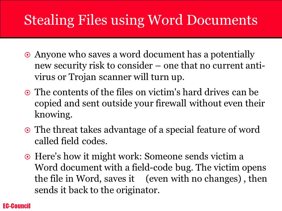 Stealing Files using Word Documents