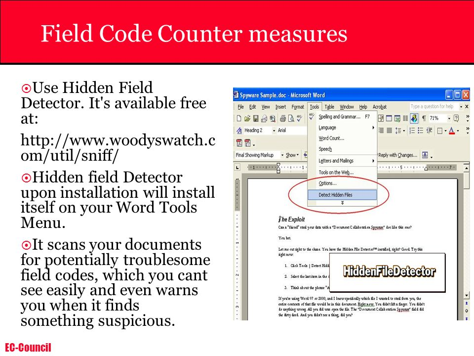 Field Code Counter measures