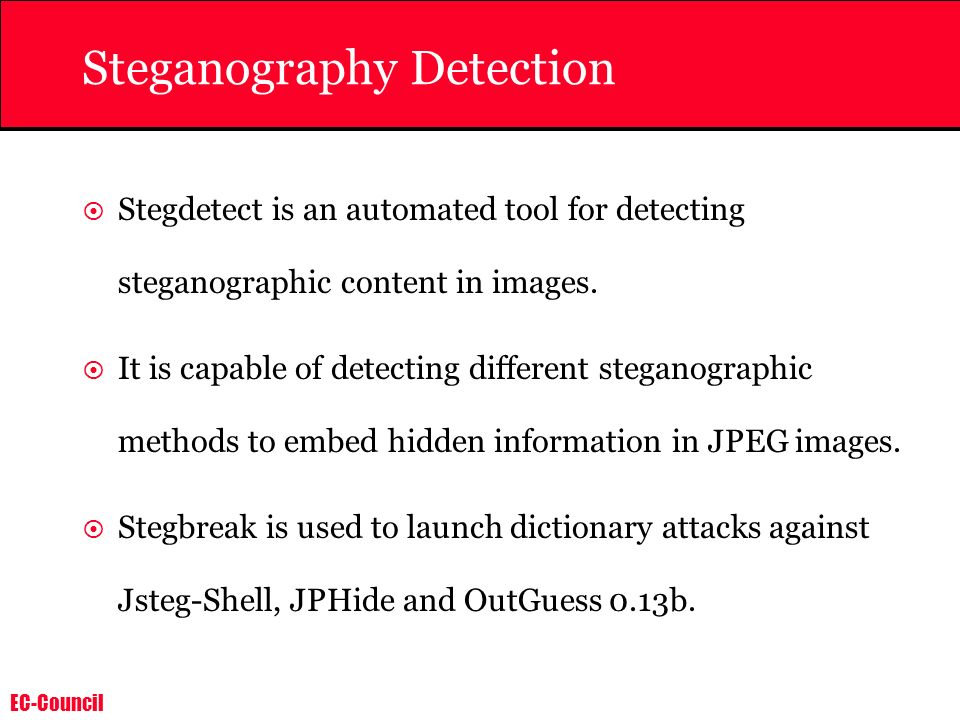 Steganography Detection