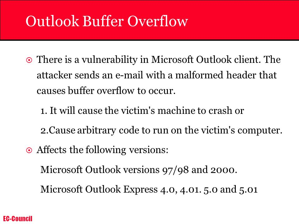 Outlook Buffer Overflow