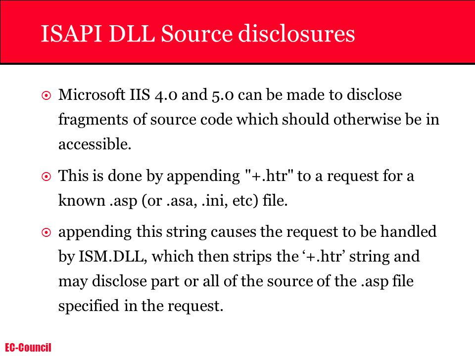 ISAPI DLL Source disclosures