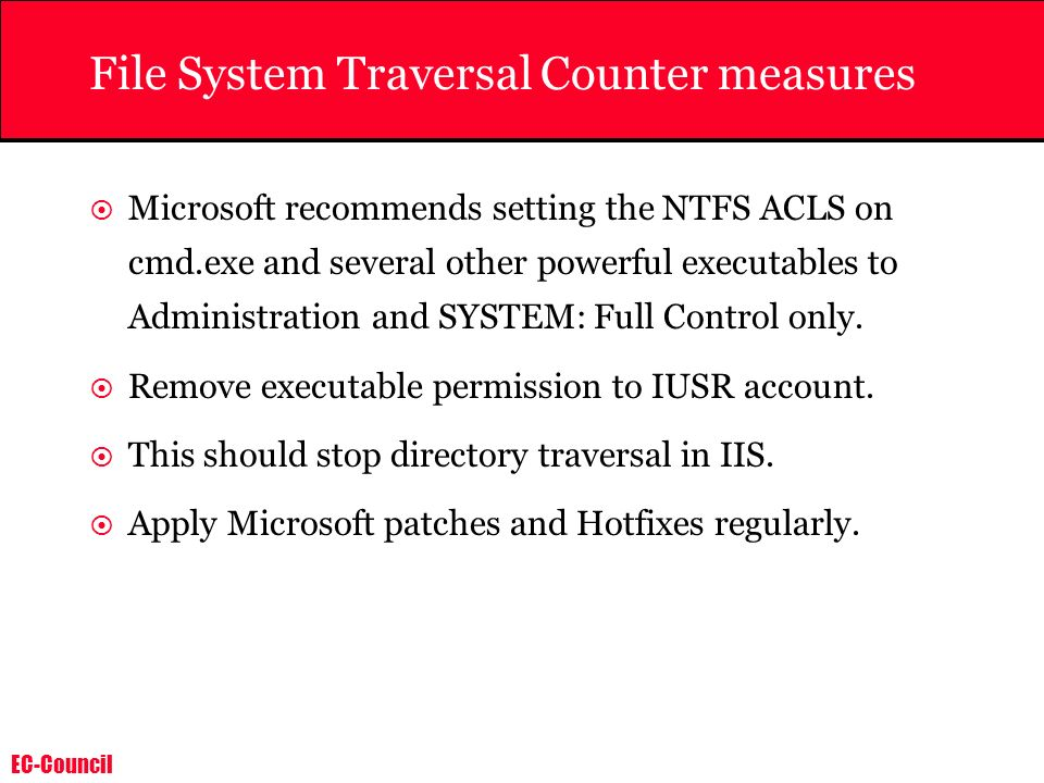 File System Traversal Counter measures