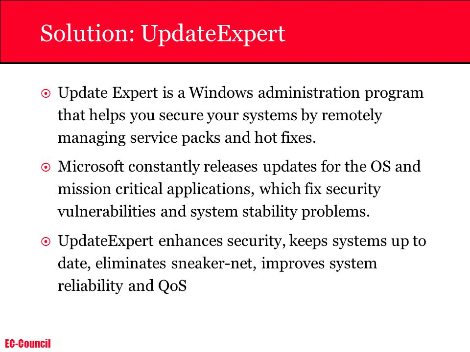 Solution: UpdateExpert