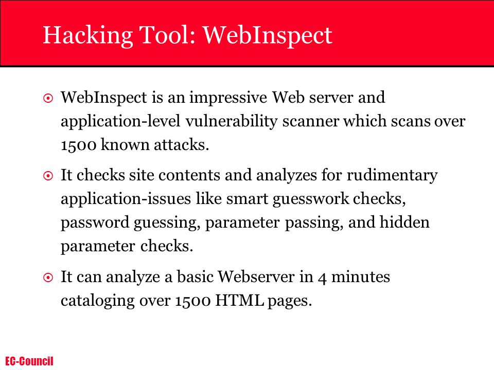 Hacking Tool: WebInspect
