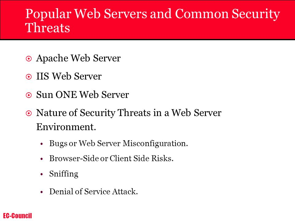 Popular Web Servers and Common Security Threats