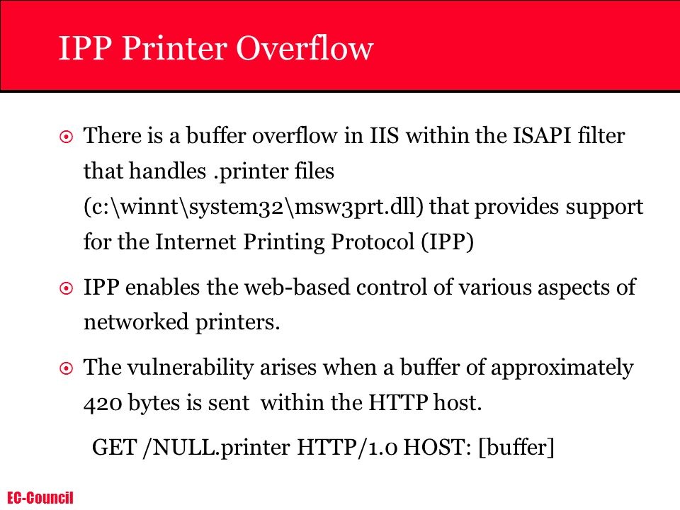 IPP Printer Overflow