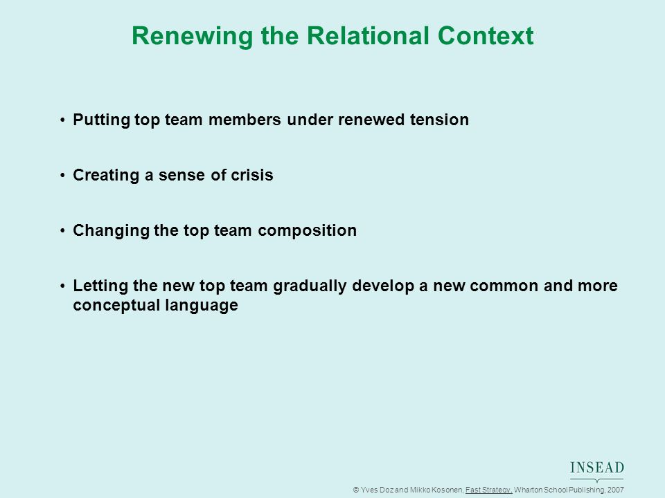 Renewing the Relational Context