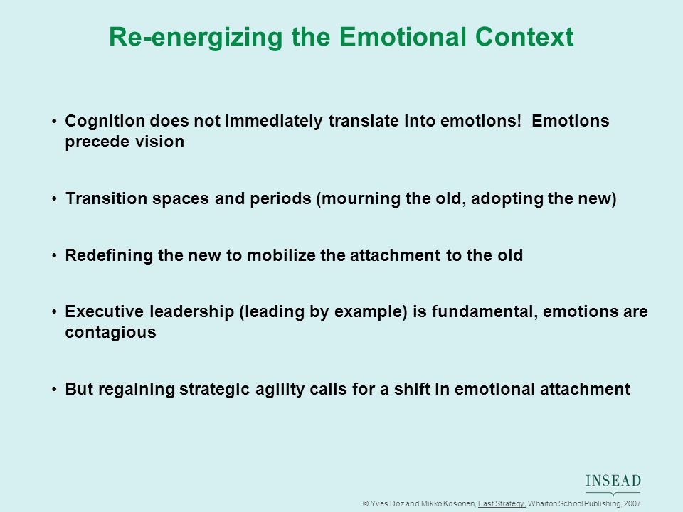 Re-energizing the Emotional Context