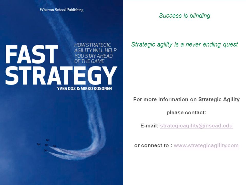 Strategic agility is a never ending quest