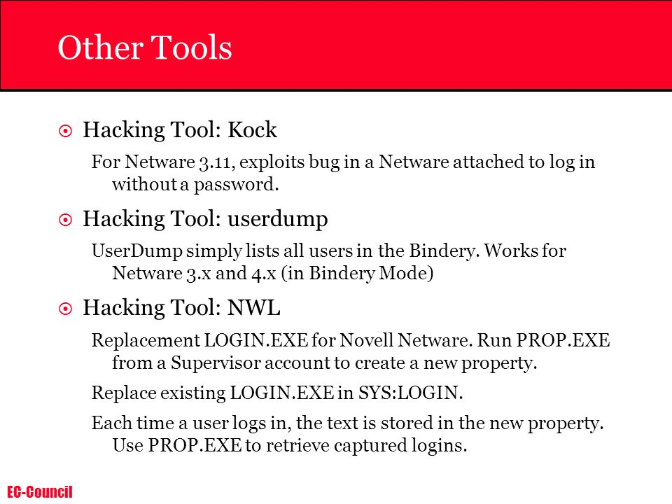 Other Tools Hacking Tool: Kock Hacking Tool: userdump
