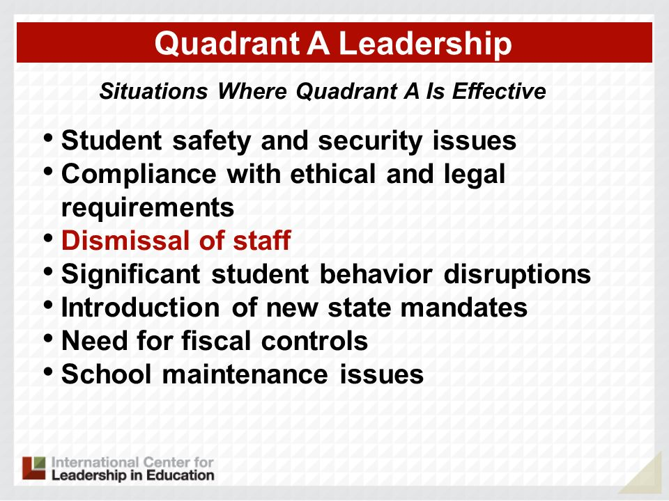 Situations Where Quadrant A Is Effective