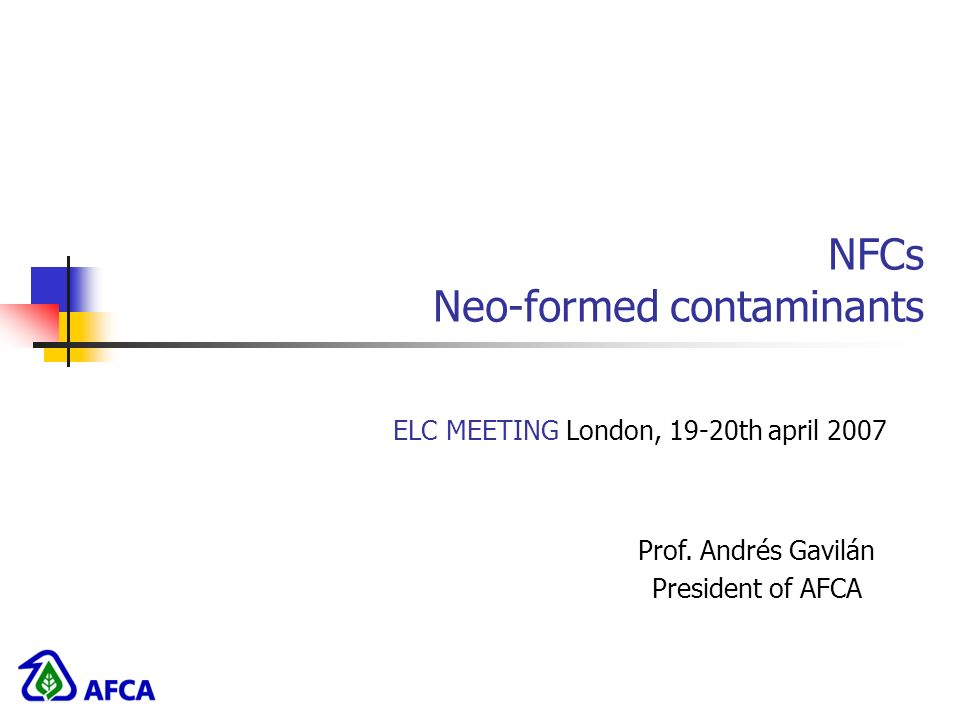 NFCs Neo-formed contaminants