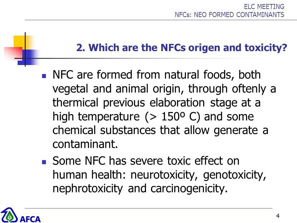 2. Which are the NFCs origen and toxicity