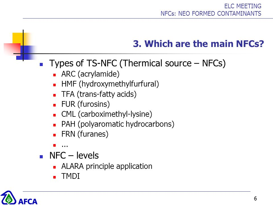 Types of TS-NFC (Thermical source – NFCs)