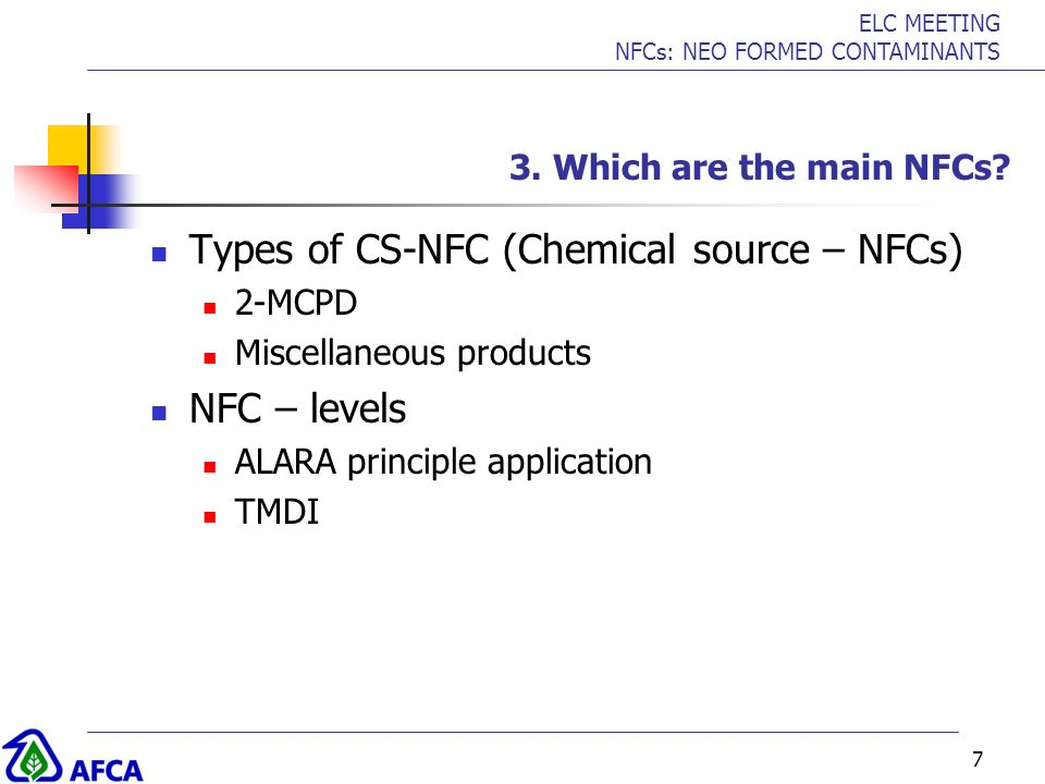 Types of CS-NFC (Chemical source – NFCs)