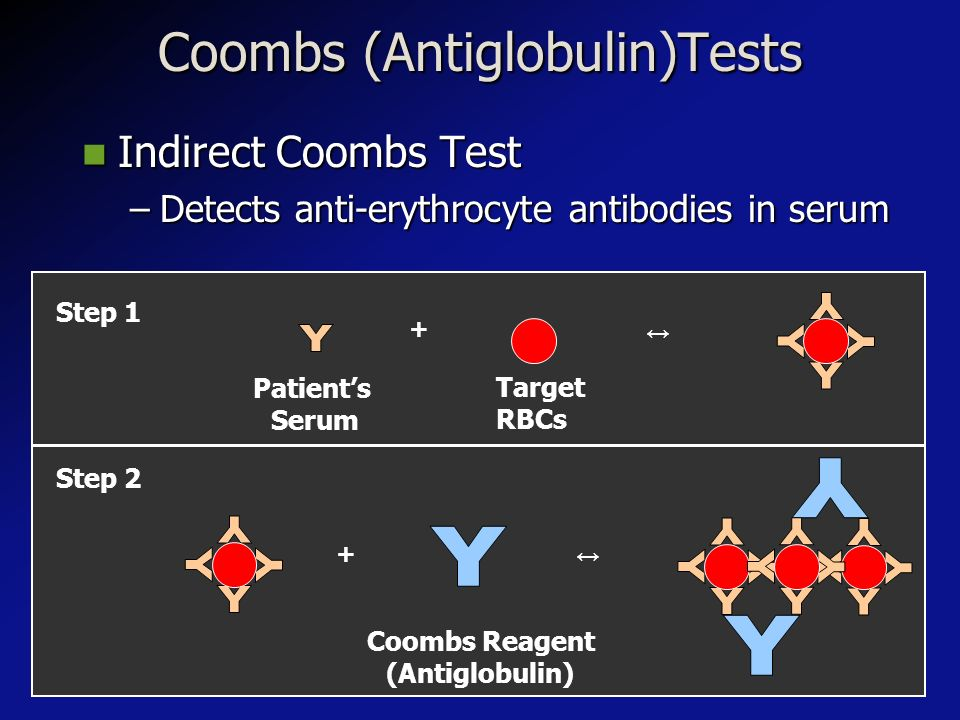 Coombs (Antiglobulin)Tests