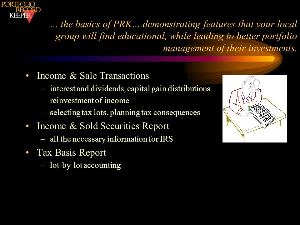 Income & Sale Transactions