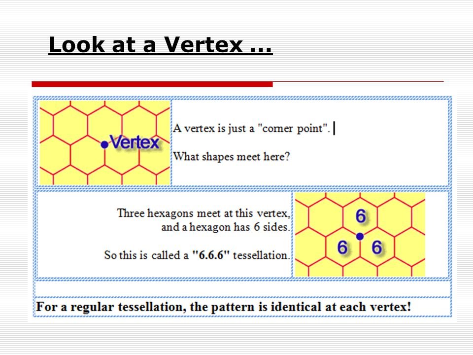 Look at a Vertex ... Have students complete using third space on worksheet… Use pen tool to model….
