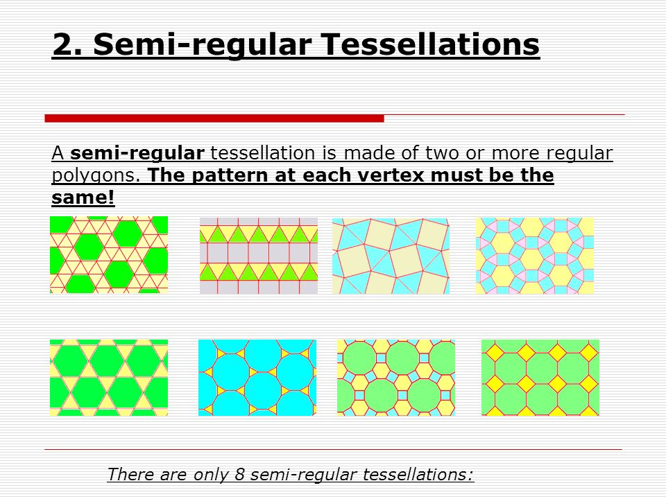 2. Semi-regular Tessellations