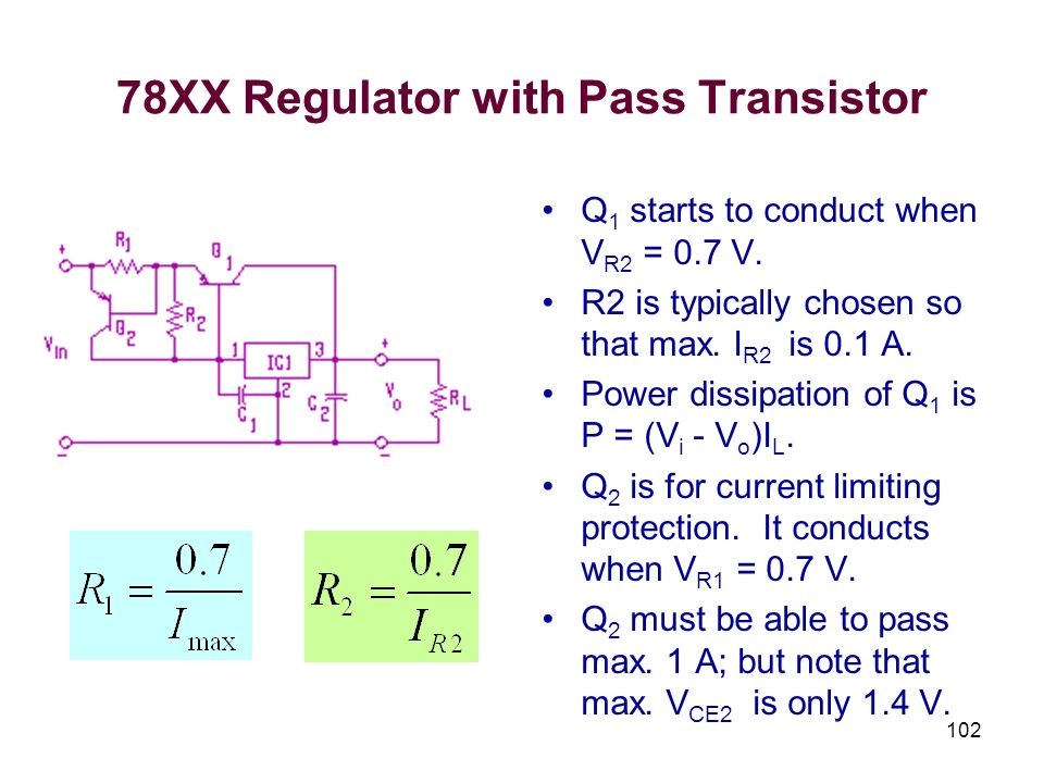 78XX Regulator with Pass Transistor