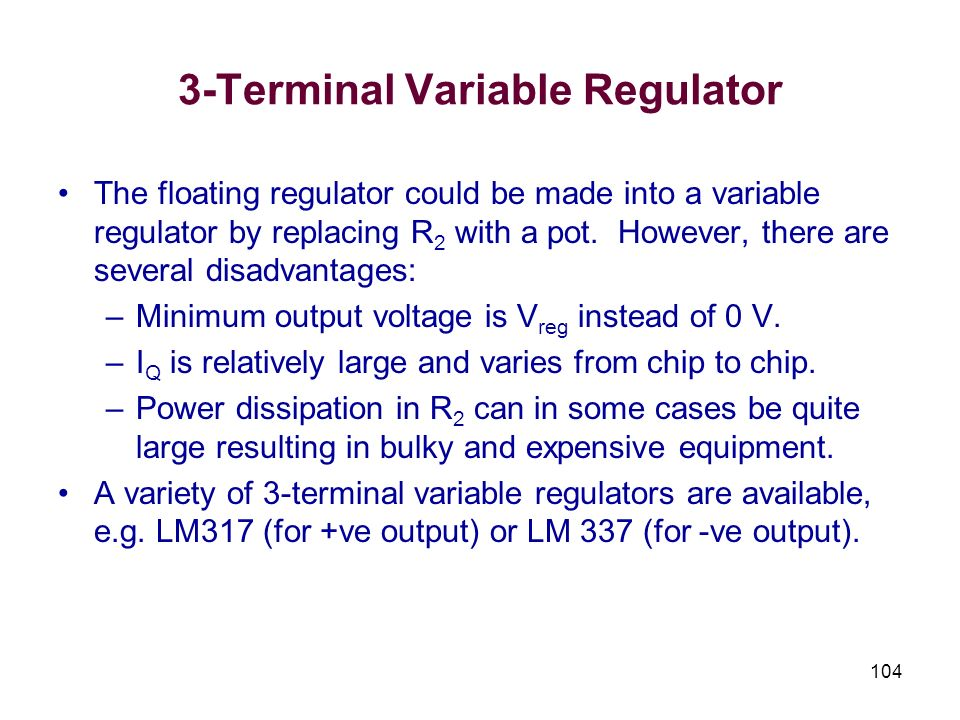 3-Terminal Variable Regulator