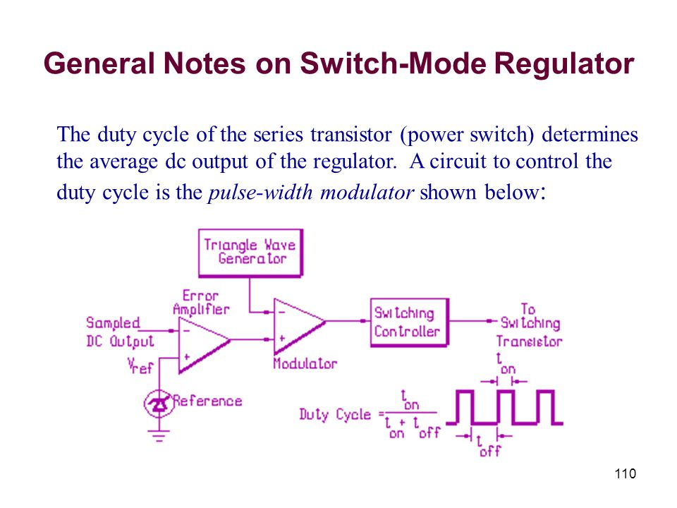 General Notes on Switch-Mode Regulator