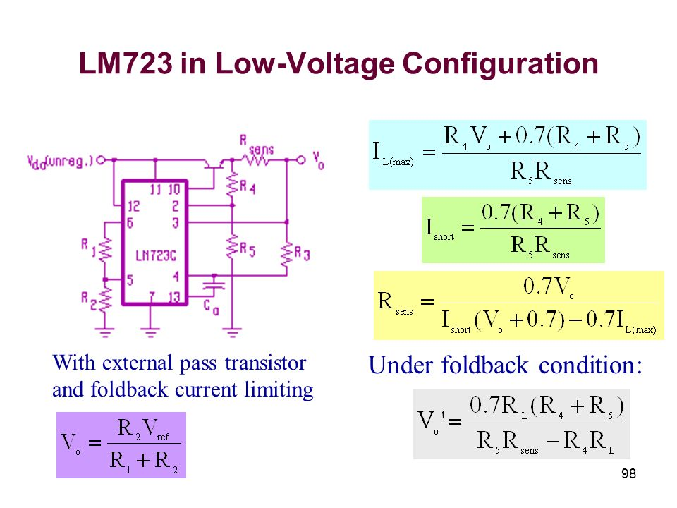 LM723 in Low-Voltage Configuration