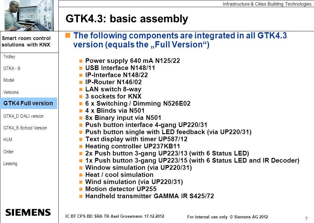 "GTK4.3: basic assembly The following components are integrated in all GTK4.3 version (equals the ""Full Version )"