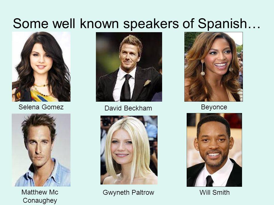 Some well known speakers of Spanish…