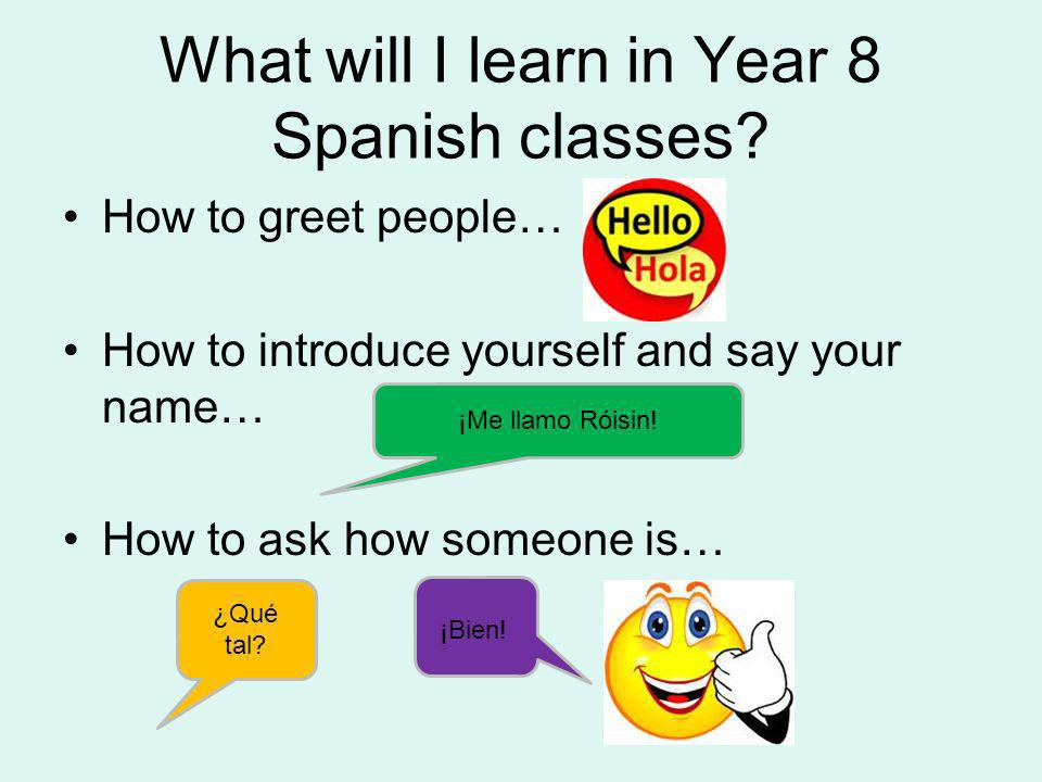 What will I learn in Year 8 Spanish classes