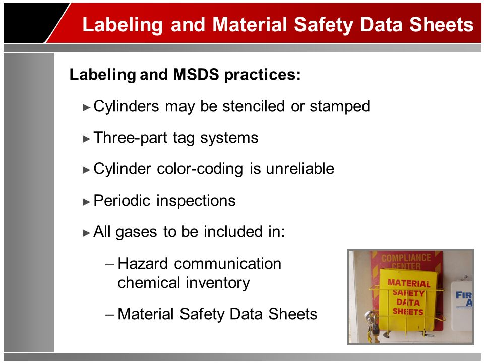 Labeling and Material Safety Data Sheets