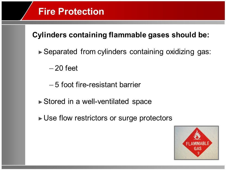 Fire Protection Cylinders containing flammable gases should be: