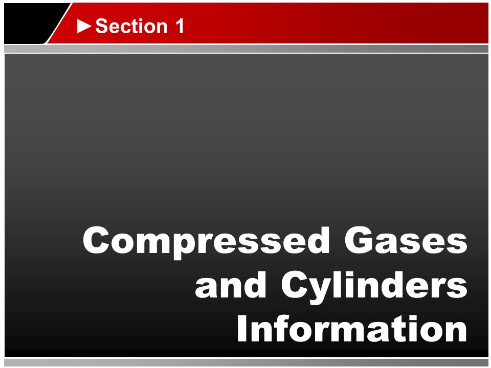 Compressed Gases and Cylinders Information
