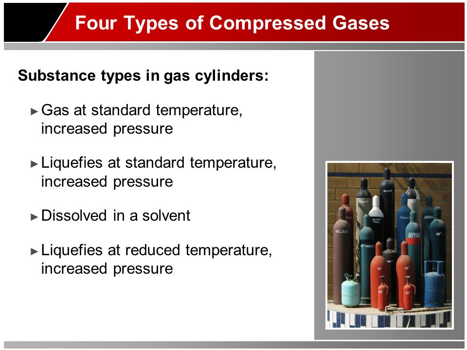 Four Types of Compressed Gases