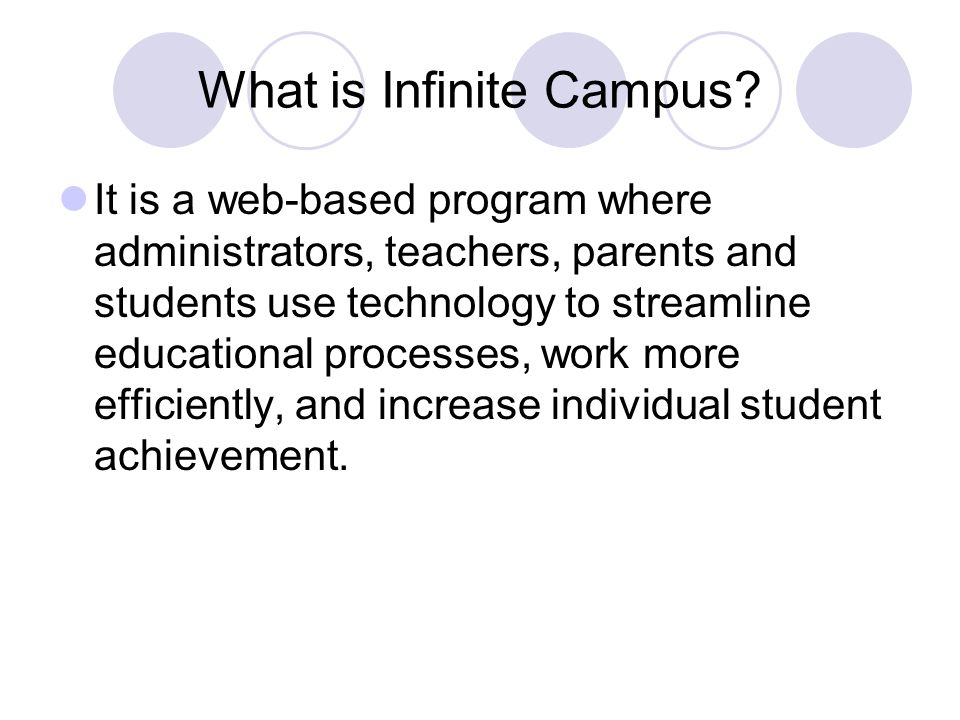 What is Infinite Campus