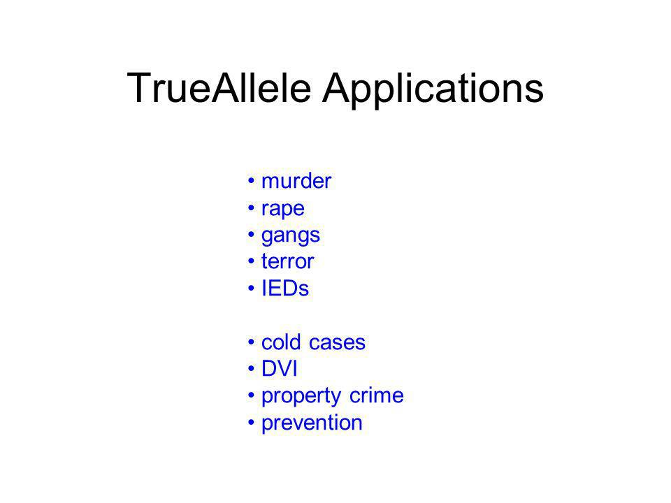 TrueAllele Applications