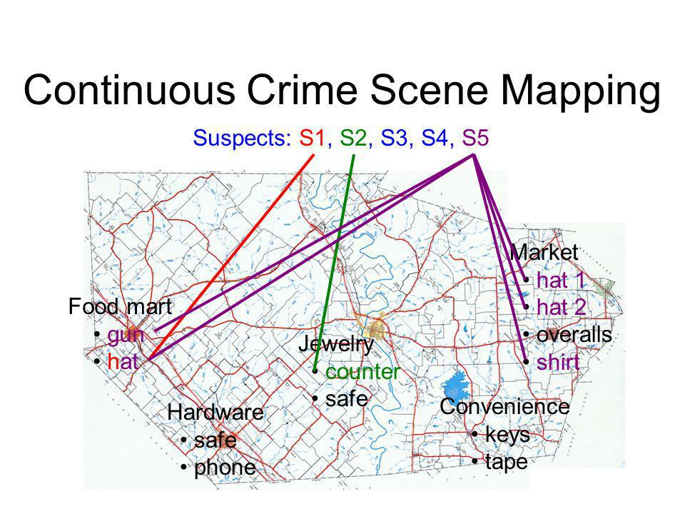 Continuous Crime Scene Mapping