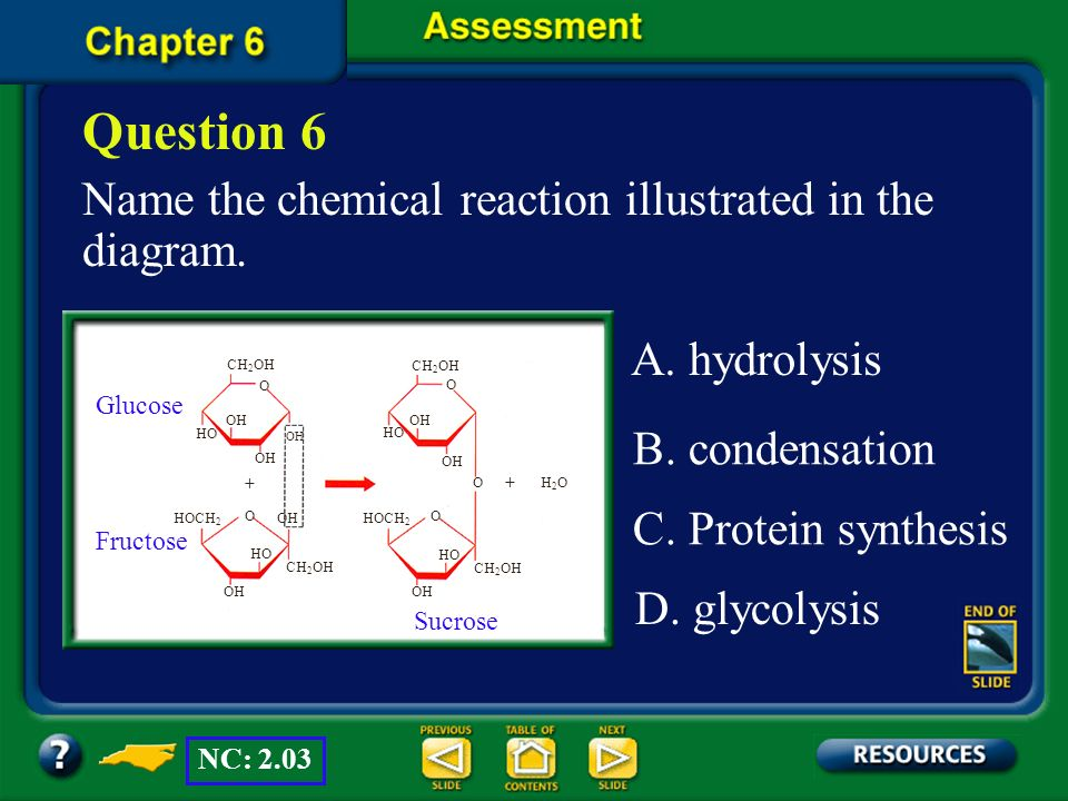 Question 6 Name the chemical reaction illustrated in the diagram.