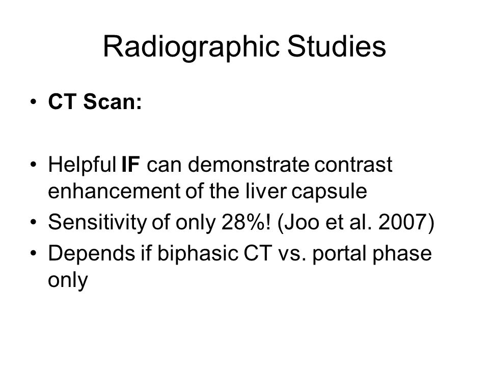Radiographic Studies CT Scan: