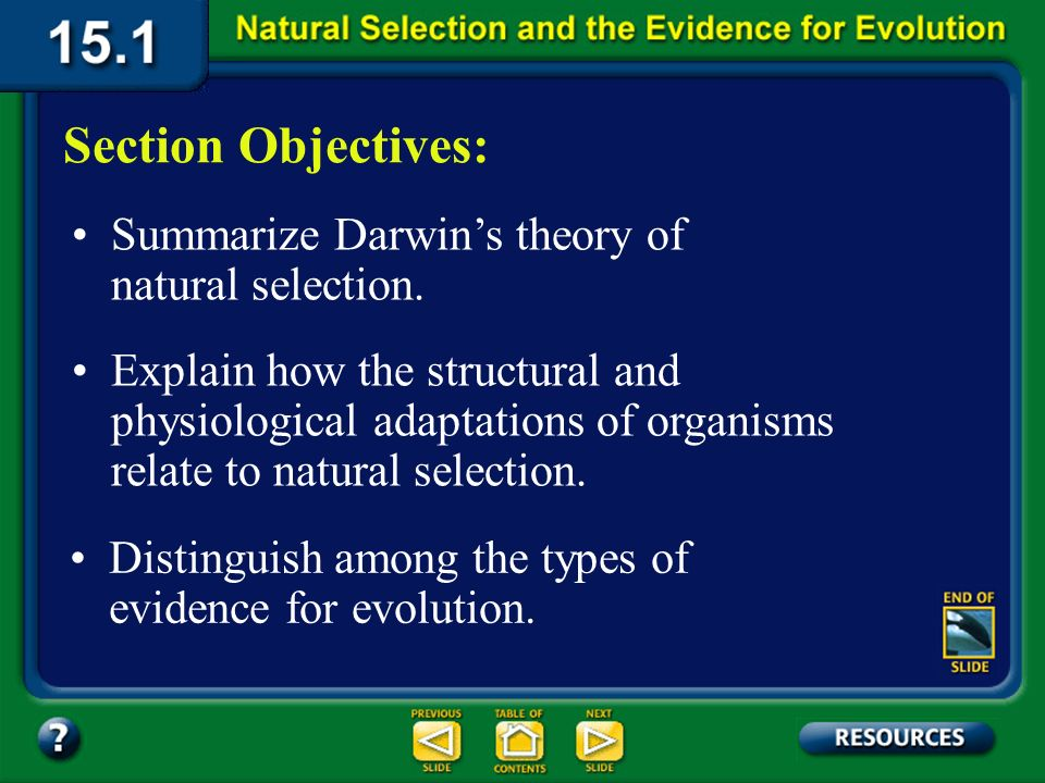 15.1 Section Objectives – page 393