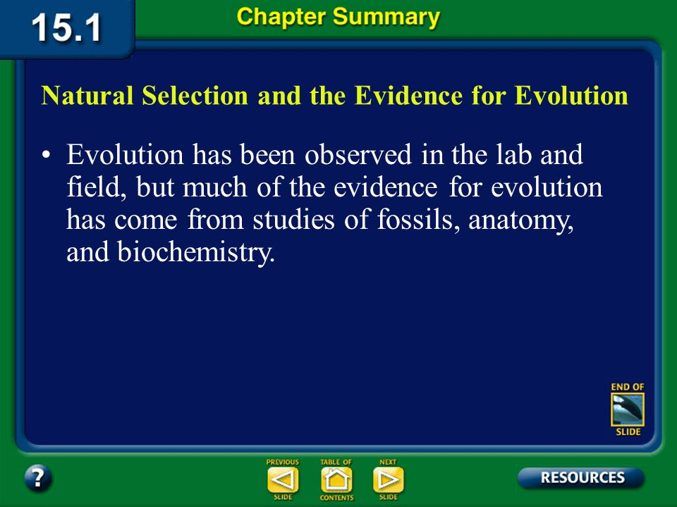 Natural Selection and the Evidence for Evolution
