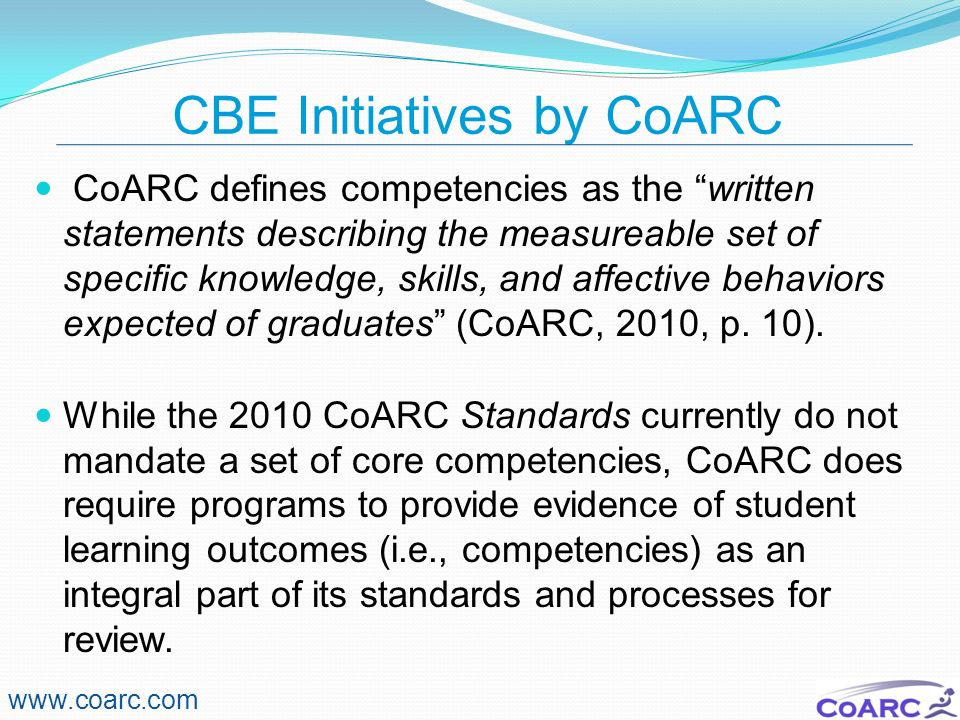 CBE Initiatives by CoARC