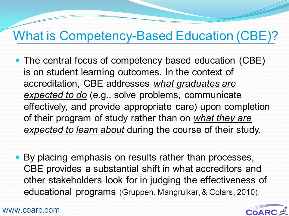 What is Competency-Based Education (CBE)