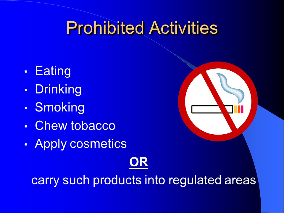 Prohibited Activities